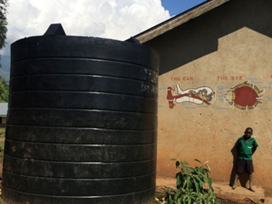 water system at the Kinono Primary school
