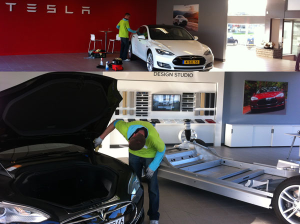 greenest carwash and tesla